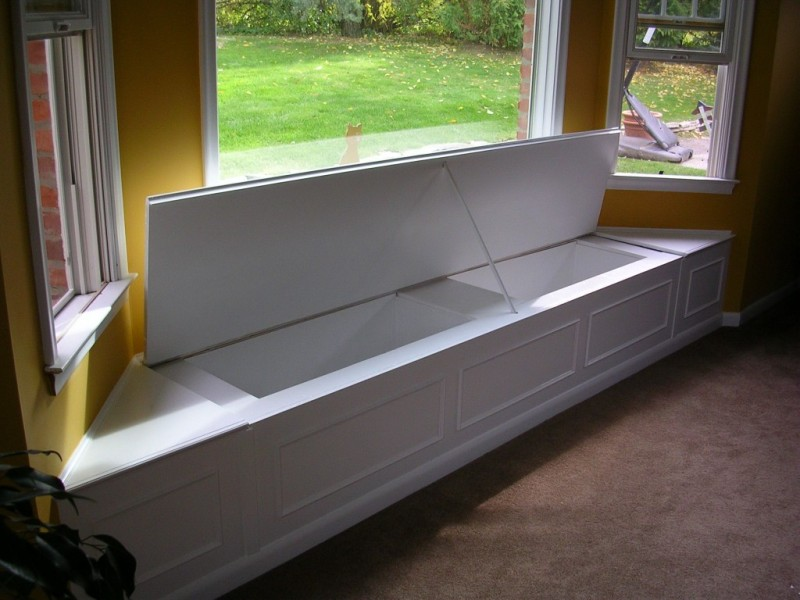 window bench seat storage plans